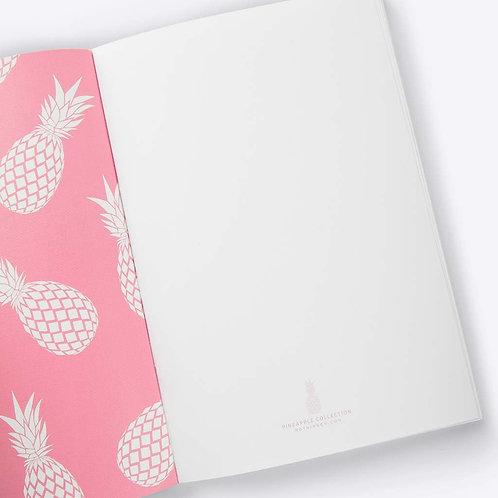 Ananas Notizbuch (pink)