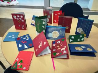 Rankų darbo kalėdiniai atvirukai tik patiems artimiausiems