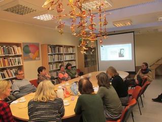 Antrasis pietinio mikrorajono skaitytojų susitikimas bibliotekoje