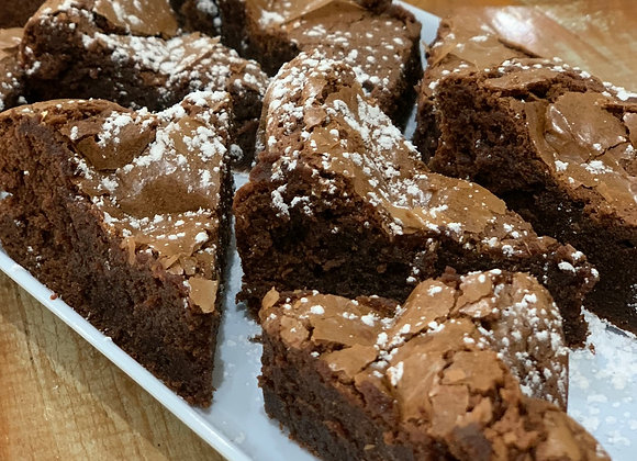 Dark Choc Brownie (GF) (single serve)