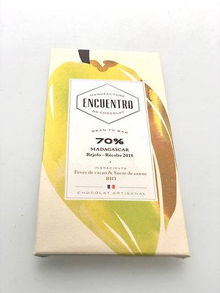 Chocolat Bio Madagascar 70% - 75G