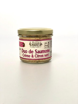 Duo de Saumons Crème & Citron Vert - Marot - 90G
