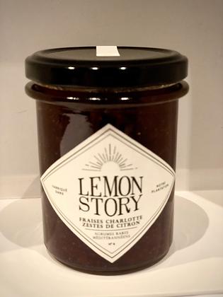 Confiture Fraises et zestes de citron - 220g