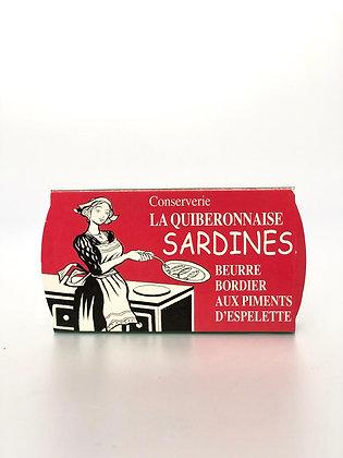 Sardines Beurre Bordier Piment d'Espelette