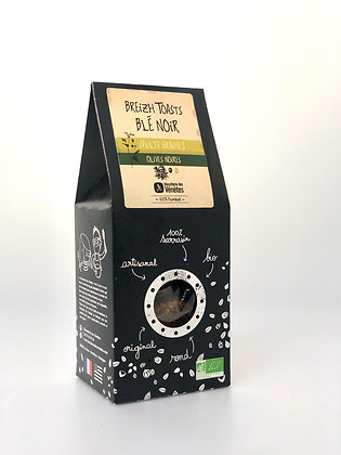 Toast Blé noir bio Olive noires 125G