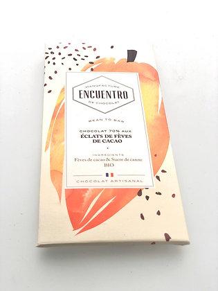 Chocolat Bio Haïti 70% Eclats de fèves de Cacao