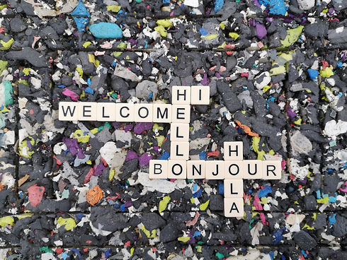 Creative Awakenings image with words saying Hi, Welcome, Bonjour and Hola