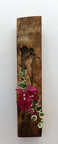 (l) Designed wooden flower vase