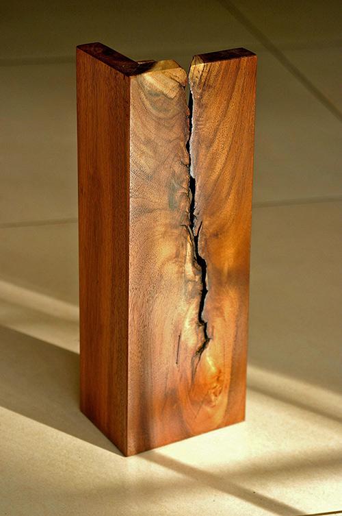 (a) Designed wooden flower vase