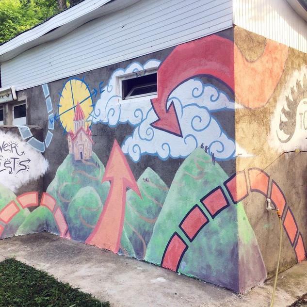 Mural at the Trans-Caucasian Trail HQ