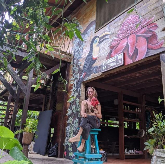 Mural at Punta Mona