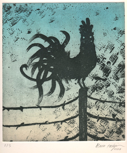 Untitled (Rooster at Dusk)