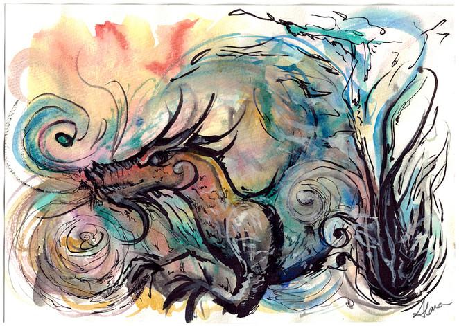 Chinese Dragon (Homage to Van Gogh)