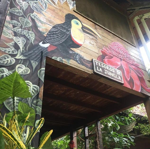 Mural at Punta Mona (Detail)