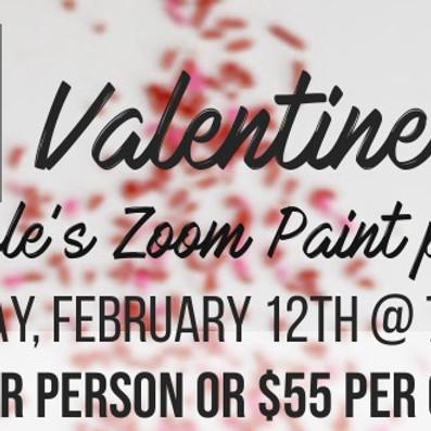 Valentine Couple's Zoom Paint