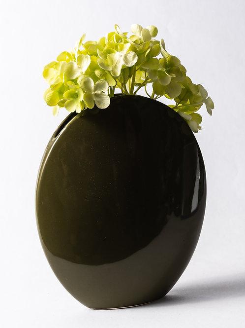 Vaso ovale verde militare
