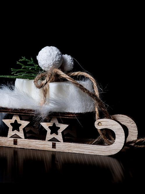 Slitta con saponetta natalizia profumata