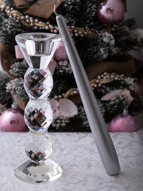 Porta candela in cristallo