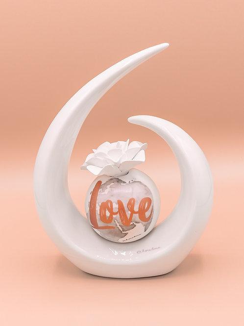 """Profumatore a sfera con semi anello serigrafato """"Love"""" - grande"""