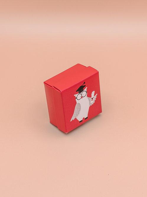 Scatolina Laurea quadrata con gufetto
