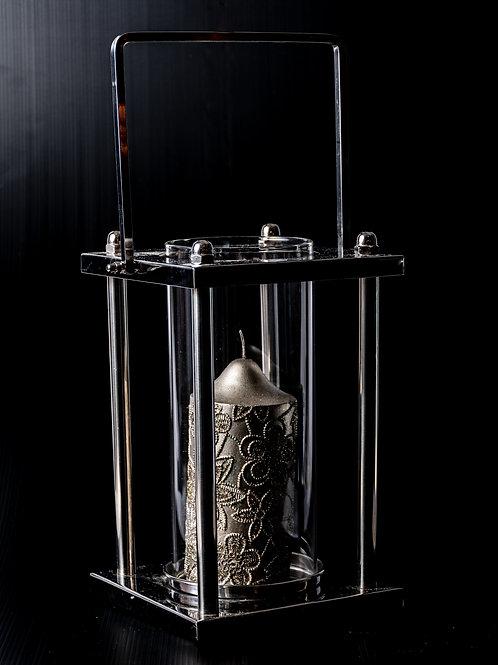 Lanterna vetro e metallo