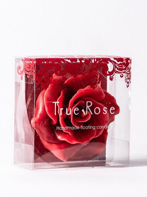 Candela a forma di rosa rossa