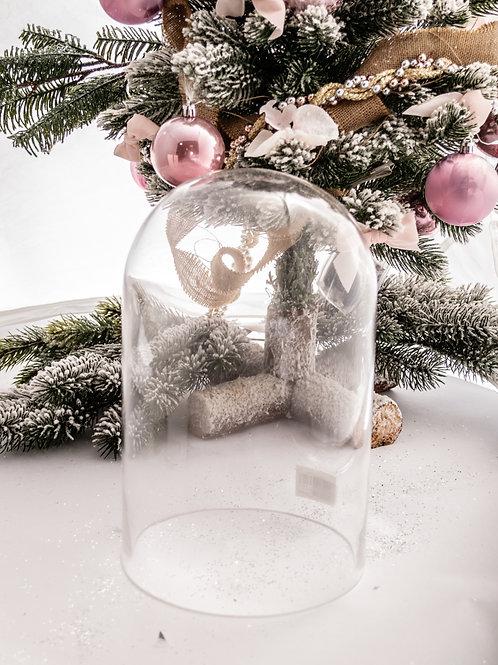 Cupola in vetro trasparente