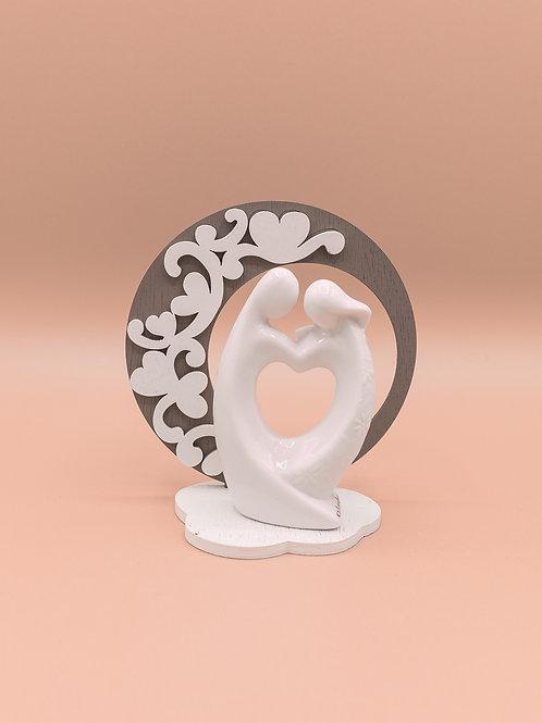 """Statuina con anello """"Marito&Moglie"""""""