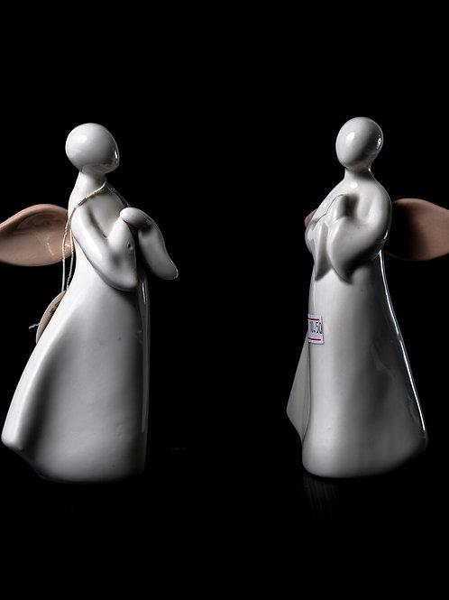 Coppia angeli in porcellana