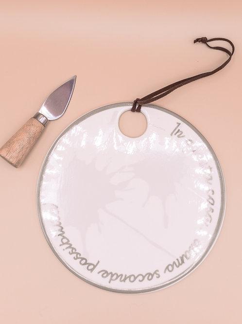 Tagliere e coltellino da formaggio
