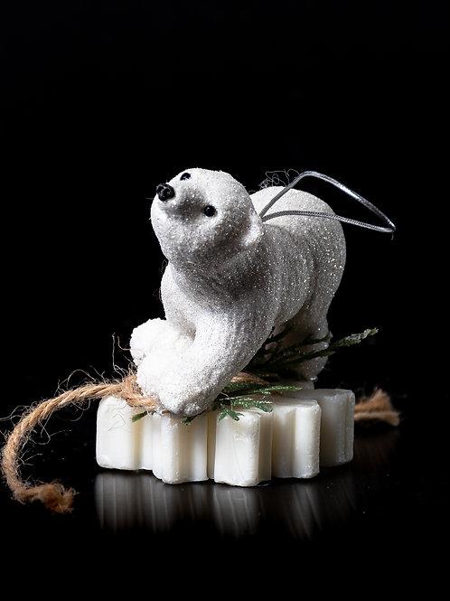 Orsetto polare su saponetta profumata