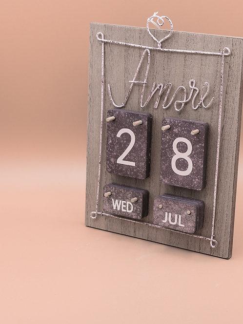 Calendario da tavolo in legno