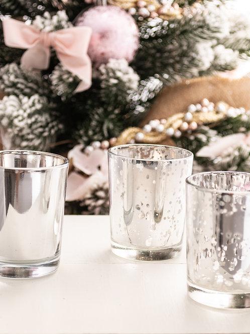 Tris di bicchierini porta tealight
