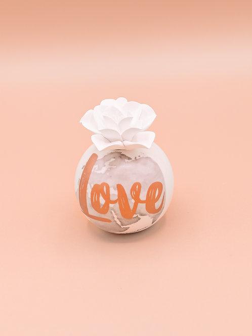 """Profumatore a sfera serigrafato """"Love"""" - piccolo"""