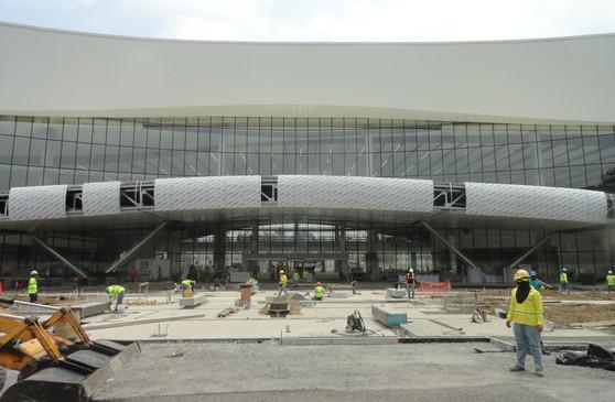 canopy under construction