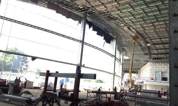 lobby under construction