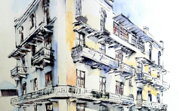 Conceptual facade sketch