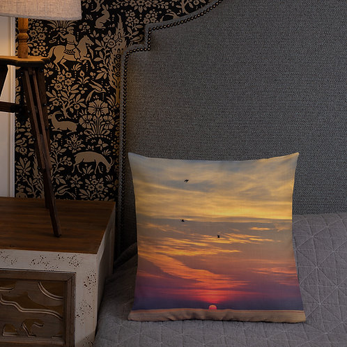 Premium Pillow - Three Gull Sunrise