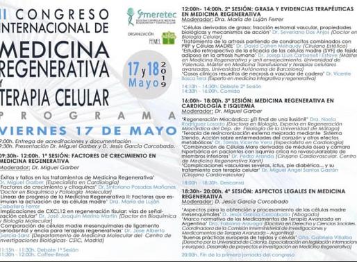 II Congreso Internacional de Medicina Regenerativa.