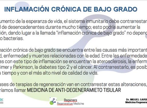 INFLAMACIÓN CRÓNICA DE BAJO GRADO Y TERAPIAS CELULAR