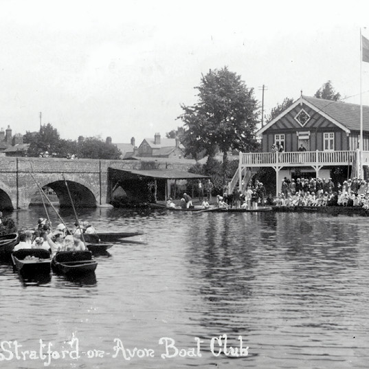 The boat club looking very busy in the early 1900s.