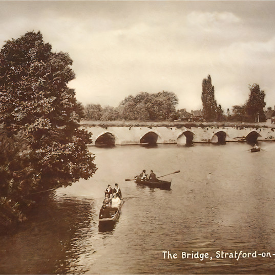 Clopton Bridge early 1900s.