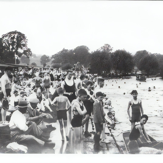 Another shot of the the Old Bathing Place, which judging by the swimming costumes, could be 1920s or 30s.