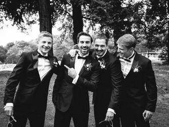 Groomsmen, des Bräutigams beste Freunde