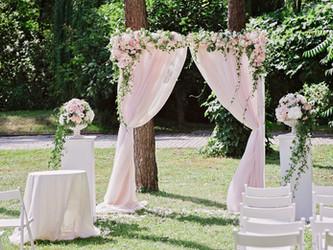 Hochzeitsbogen, Blumenbogen oder Birkenbogen