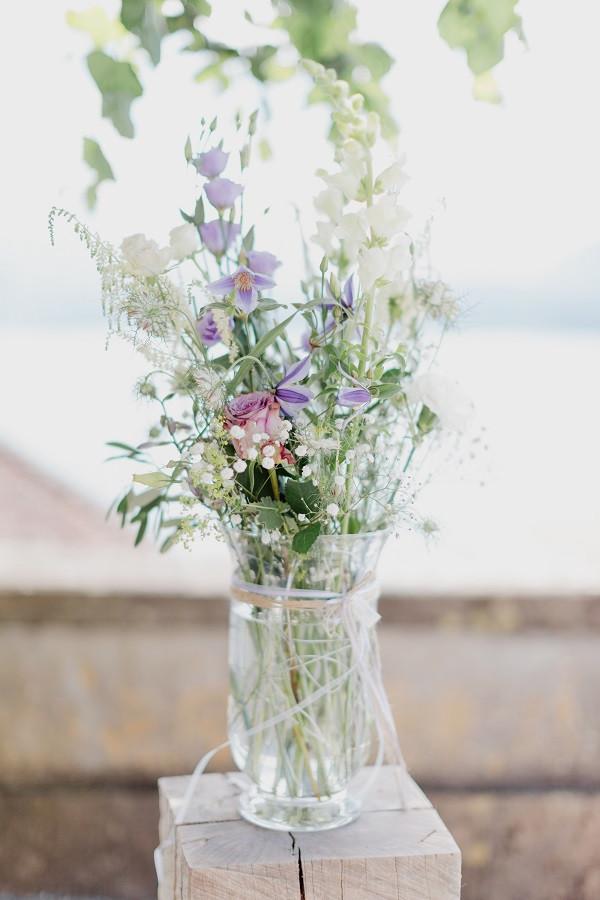 romantische Blumendeko