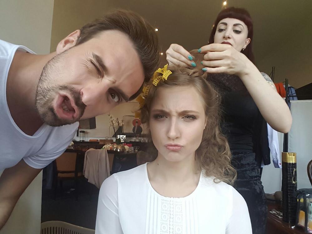 Anna und Peter in der Maske