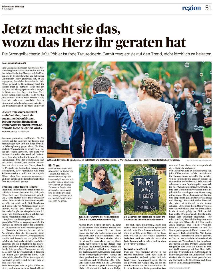 Presseartikel Liebesbekenntnis