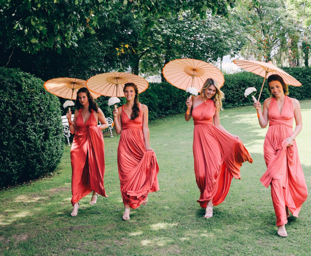 Bridesmaids in Twobirds Kleidern