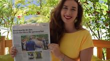 """Zeitungsbericht über """"Liebesbekenntnis"""""""